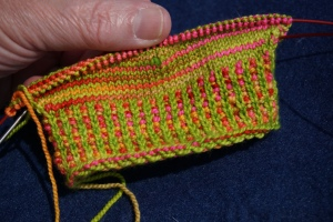 two color ribbing